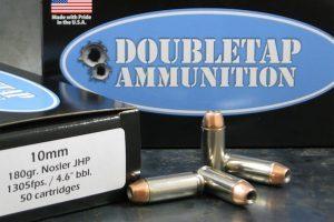 DoubleTap Ammunition .10mm 180gr Nosler JHP 50rds.