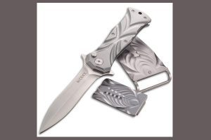 Tighe Dyed Boxed Set | Folding Knife, Money Clip & Belt Buckle