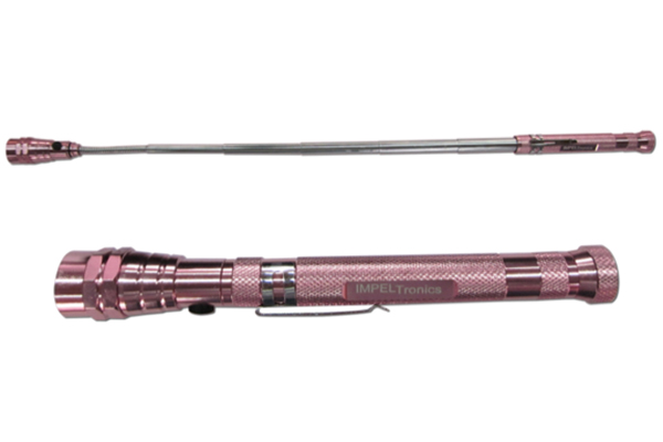 Pink Colored Magnetic Flashlight