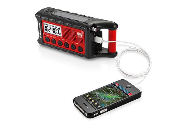 Top 20 New High-Tech Survival Products - Midland Emergency Crank Radio & Flashlight