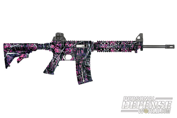 27 New Rifles for 2014 - Mossberg 715T Flat Top Muddy Girl