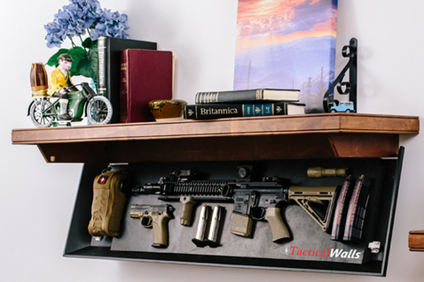 Tactical Walls Concealment Rifle Length Shelf Video