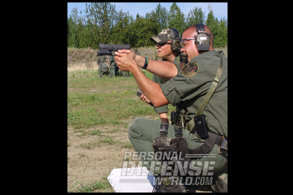 AST SERT training scenarios with GLOCK 22