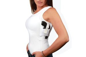 Well Armed Woman Concealment Under Shirt Tank | White