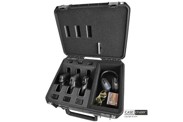 CaseCruzer's Universal Shooting Range 3 Pack Handgun Case