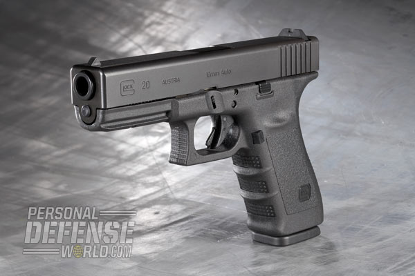 Glock 20 SF Packs 15 Rounds of 10mm AUTO Power