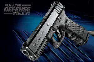 A law enforcement favorite, the Glock 22 Gen4 is also a top-notch civilian self-defense handgun, packing 15+1 rounds of accurate, controllable .40-caliber firepower. The gun comes equipped with standard Gen4 features, including a dual recoil spring, an ambidextrous mag release, wrap-around grip texturing and interchangeable backstraps for a user-customizable grip.