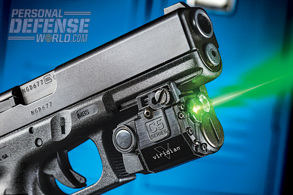 The G22's integral rail offers ample space for mounting lasers like the Viridian C5.
