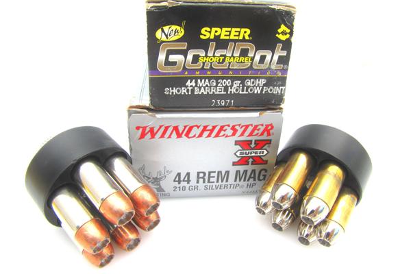 200-grain Speer Gold Dot Short Barrel HP, Winchester's 210-grain Silvertip HP