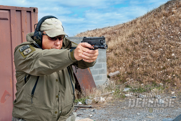 """Shot off-hand, the P226 Elite SAO was easily the most accurate factory 9mm pistol I've tested in a long time."""