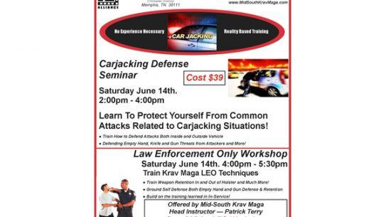 Mid-South Krav Maga will host a two-hour carjacking self-defense seminar this weekend.
