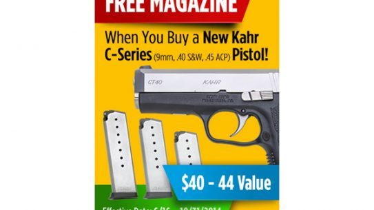 Kahr Firearms Group has announced a free magazine promotion for their Kahr, Magnum Research, and Auto Ordnance brands.