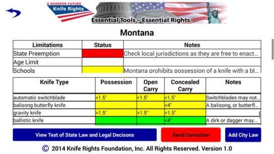 Knife Rights LegalBlade App