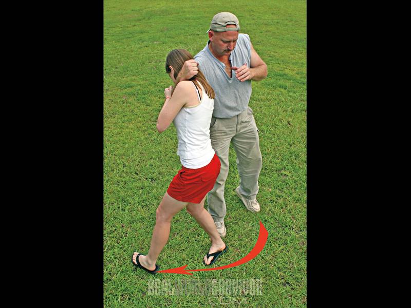 rear choke hold, choke, attack, assault, self-defense, defense
