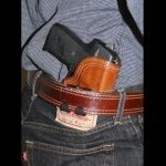 Front Line's Hidden - Inner Waistband Tuckable Leather Holster with Teflon Lining