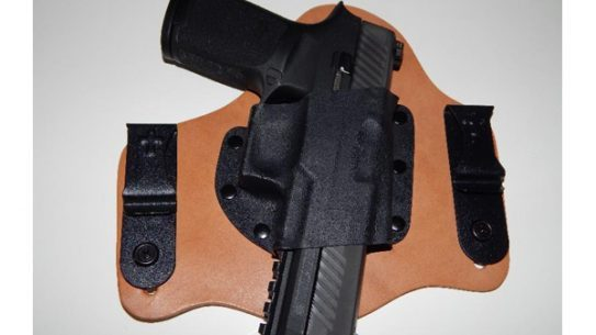 A CrossBreed SuperTuck holstering the Sig Sauer P320.