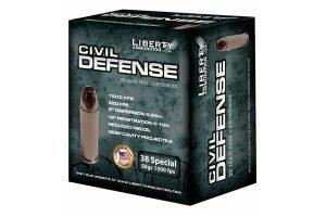liberty ammunition, ammo, civil defense, .38 special