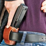 A Galco Jak Slide belt holster is ideal for carrying small frame 9mms like the Glock 26.
