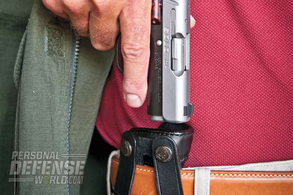 IWB holsters like the Galco Summer Comfort can make a Kimber Solo easy to conceal.
