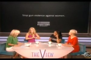 Three out of the four panelists on 'The View' supported women using a gun at home for protection.