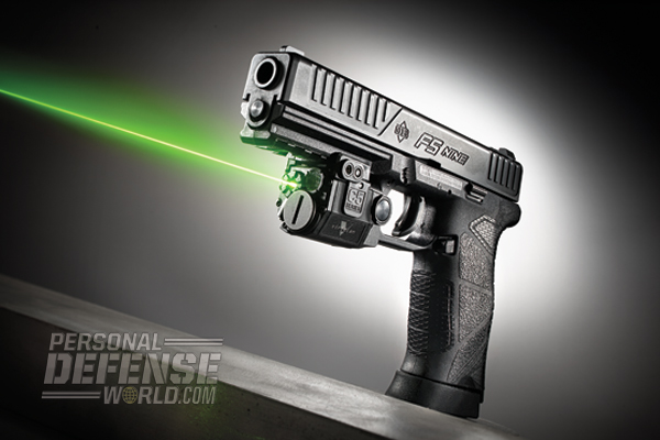 Diamondback's DB FS Nine, the company's first full-sized 9mm pistol, offers shooters a simple-to-use platform that's reliable, accurate and easy to handle. The double-stack DB FS Nine accommodates 15+1 rounds of 9mm, and under the dust cover is ample space for attaching lights and/or lasers (such as the Viridian C5L, shown).