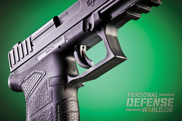 The DB FS Nine features a blade trigger safety and a sizable triggerguard for use with gloves.