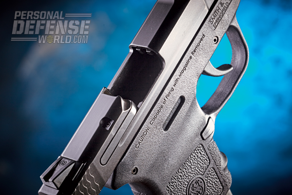 The M&P Bodyguard 380 sports a beefy extractor for the reliable ejection of spent cases.