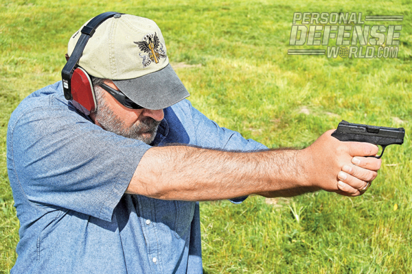 Though small, the locked-breech M&P Bodyguard proved to be an accurate shooter with minimal recoil.