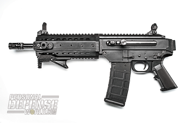 The MPAR556-P packs 30+1 rounds of accurate 5.56mm firepower.