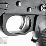 The MPAR556-P Pistol's two-position safety selector lever is located just above the grip on the left side, just like on a standard AR-15. It proved to be easy to manipulate.