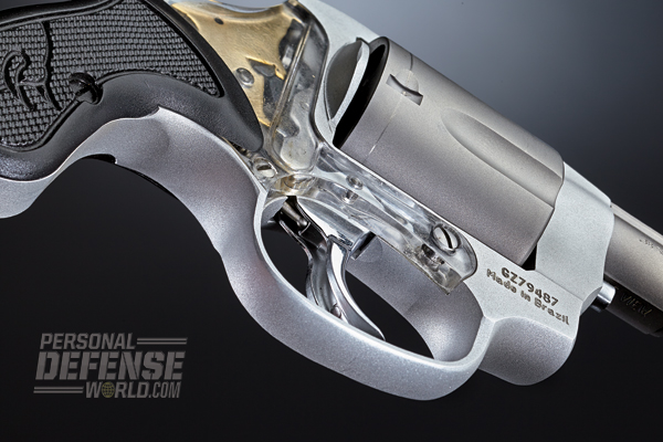 The View's Lexan sideplate is strong enough to serve as an integral part of the revolver's frame.