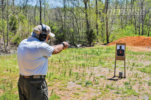 Befitting the View's intended uses, off-hand testing was conducted at 3 and 5 yards.