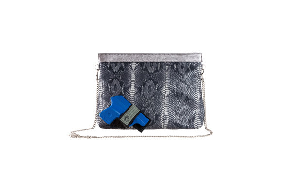 Been & Badge Pepper Clutch - Black/Grey