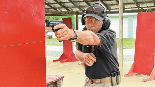 "Bill Rogers provides students with an intense five days of non-stop handgun training, which culminates in the taking of the ""Test."""