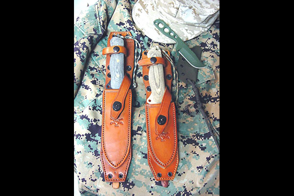 Left to Right: Chisolm's Trail ASL 6 & ASL 5 Tactical/Survival Knives, WASP Neck Knife