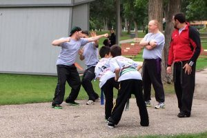"Moore's Shou Shu Martial Arts hosted its annual ""Kickin' It in the Park"" self-defense event in Minot, ND. (Photo: Facebook)"