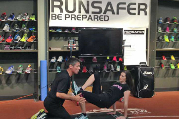 Olympic runner Todd Williams is bringing his RunSafer program to Cedar Falls, Iowa.