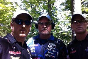 Team X-Rail (L to R): Tommy Thacker, Larry Houck, Greg Jordan. (Photo: ArmaLite)