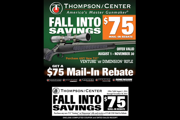 Thompson/Center Arms: 'Fall Into Savings' Mail-In Rebate program.