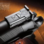 The target style rear sight is fully adjustable and finely calibrated.