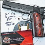 On the range, the RO achieved a best group of 0.84 inches using Black Hills JHP ammo.
