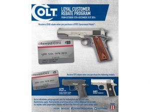 Colt Rebate Program, colt, colt sale