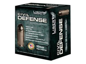 Liberty Ammunition, 10mm auto liberty ammunition, 10mm auto civil defense, liberty ammunition civil defense