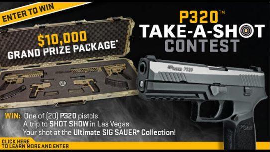 Sig Sauer P320 Take-A-SHOT Contest, sig sauer, sig sauer p320
