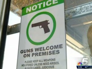 Texas Concealed Carry Restaurant, texas concealed carry