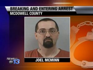 burglar, north carolina burglar, joel mcminn