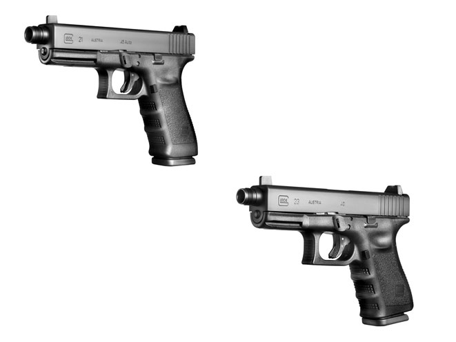 complete book of handguns, glock, glock threaded barrels, glock threaded barrel models