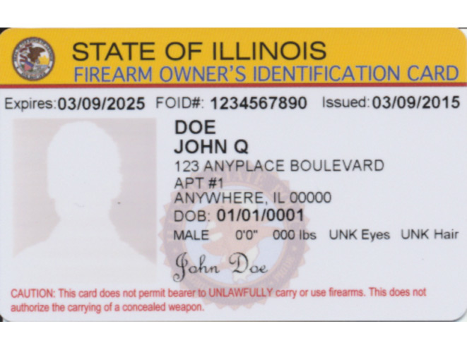 Illinois FOID Card, FOID, Illinois FOID