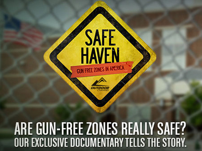 outdoor channel, safe haven, safe haven gun free zones, gun free zone, outdoor channel safe haven