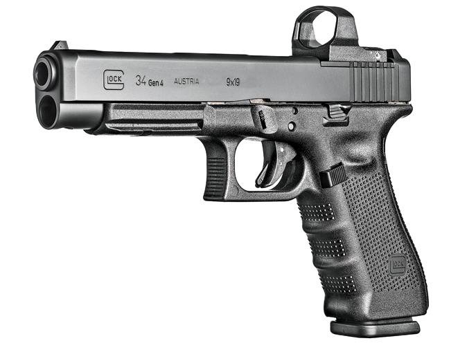 3-gun, 3-gun rifles, 3-gun pistols, 3-gun shotguns, 3 gun, 3-gun competition, GLOCK 34 GEN4 MOS